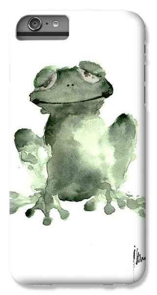 Frog Painting Watercolor Art Print Green Frog Large Poster IPhone 6 Plus Case by Joanna Szmerdt