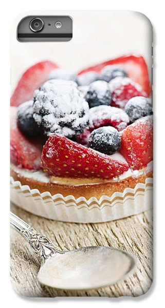 Fruit Tart With Spoon IPhone 6 Plus Case by Elena Elisseeva