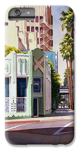 Gale Cafe On Wilshire Blvd Los Angeles IPhone 6 Plus Case by Mary Helmreich