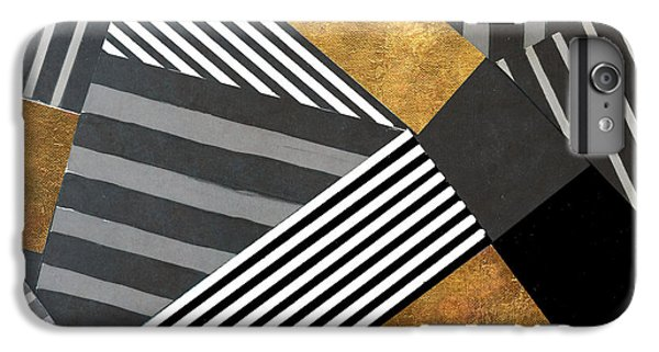 Geo Stripes In Gold And Black II IPhone 6 Plus Case by Lanie Loreth