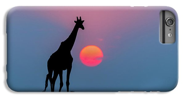 Giraffe At Sunset Chobe Np Botswana IPhone 6 Plus Case by Andrew Schoeman