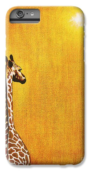 Giraffe Looking Back IPhone 6 Plus Case by Jerome Stumphauzer