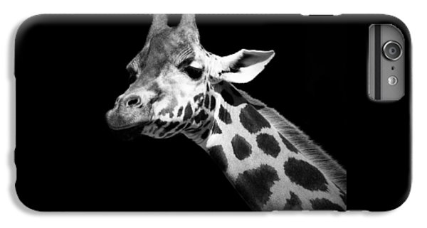 Portrait Of Giraffe In Black And White IPhone 6 Plus Case by Lukas Holas