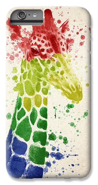 Giraffe Splash IPhone 6 Plus Case by Aged Pixel