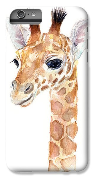Giraffe Watercolor IPhone 6 Plus Case by Olga Shvartsur
