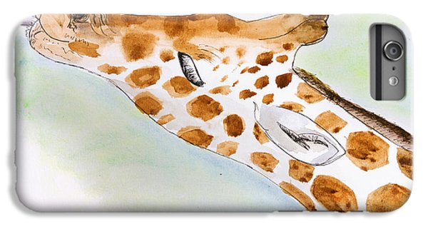 Giraffe With Tongue Out IPhone 6 Plus Case by Pati Photography