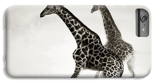 Giraffes Fleeing IPhone 6 Plus Case by Johan Swanepoel
