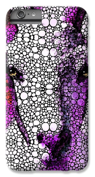Goat - Pinky - Stone Rock'd Art By Sharon Cummings IPhone 6 Plus Case by Sharon Cummings