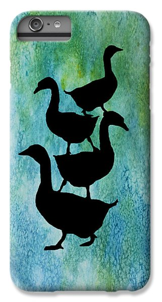 Goose Pile On Aqua IPhone 6 Plus Case by Jenny Armitage