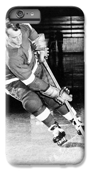Gordie Howe Skating With The Puck IPhone 6 Plus Case by Gianfranco Weiss
