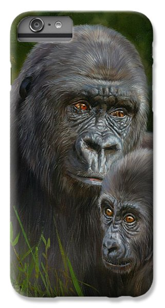 Gorilla And Baby IPhone 6 Plus Case by David Stribbling