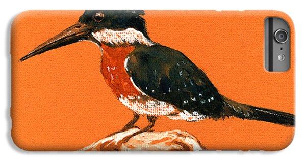 Green Kingfisher IPhone 6 Plus Case by Juan  Bosco