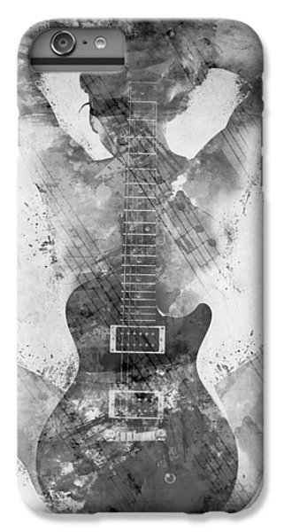 Guitar Siren In Black And White IPhone 6 Plus Case by Nikki Smith