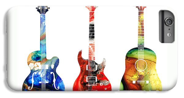 Guitar Threesome - Colorful Guitars By Sharon Cummings IPhone 6 Plus Case by Sharon Cummings