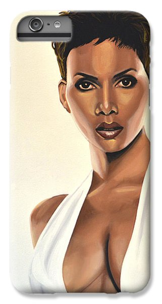 Halle Berry Painting IPhone 6 Plus Case by Paul Meijering