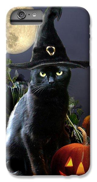 Witchy Black Halloween Cat IPhone 6 Plus Case by Regina Femrite