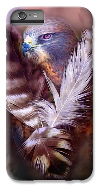 Heart Of A Hawk IPhone 6 Plus Case by Carol Cavalaris