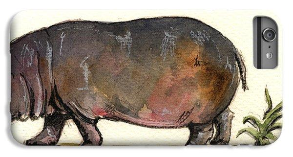 Hippo IPhone 6 Plus Case by Juan  Bosco