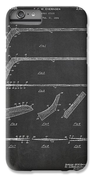 Hockey Stick Patent Drawing From 1934 IPhone 6 Plus Case by Aged Pixel