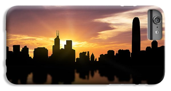 Hong Kong Sunset Skyline  IPhone 6 Plus Case by Aged Pixel