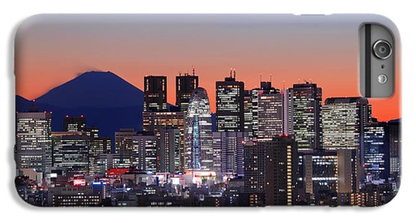 Iconic Mt Fuji With Shinjuku Skyscrapers IPhone 6 Plus Case by Duane Walker