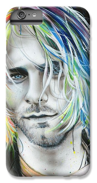 Kurt Cobain - ' In Debt For My Thirst ' IPhone 6 Plus Case by Christian Chapman Art