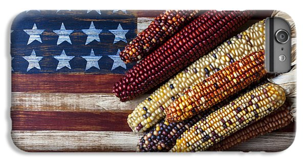 Indian Corn On American Flag IPhone 6 Plus Case by Garry Gay