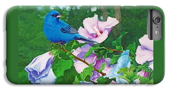 Indigo Bunting  IPhone 6 Plus Case by Ken Everett