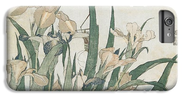 Iris Flowers And Grasshopper IPhone 6 Plus Case by Hokusai