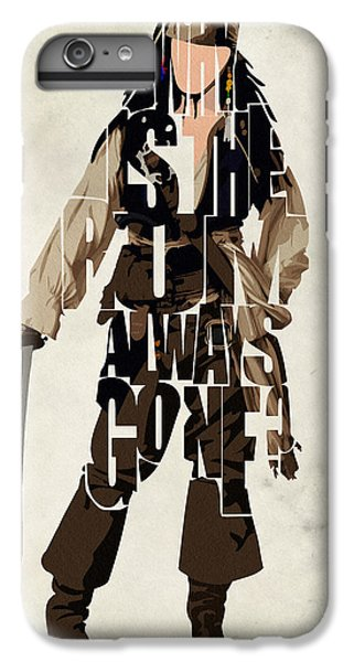 Jack Sparrow Inspired Pirates Of The Caribbean Typographic Poster IPhone 6 Plus Case by Ayse Deniz