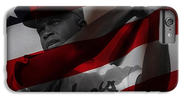 Jackie Robinson Number 42 IPhone 6 Plus Case by Marvin Blaine