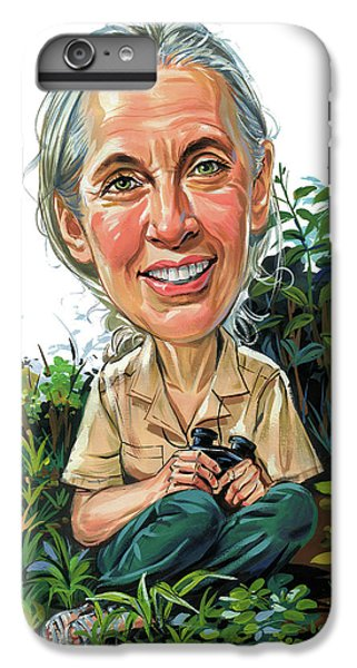 Jane Goodall IPhone 6 Plus Case by Art