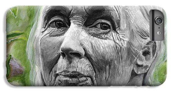 Jane Goodall IPhone 6 Plus Case by Simon Kregar