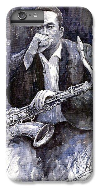 Jazz Saxophonist John Coltrane Black IPhone 6 Plus Case by Yuriy  Shevchuk
