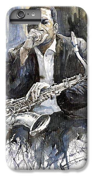 Jazz Saxophonist John Coltrane Yellow IPhone 6 Plus Case by Yuriy  Shevchuk