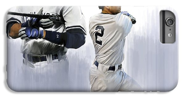 Jeter V Derek Jeter IPhone 6 Plus Case by Iconic Images Art Gallery David Pucciarelli