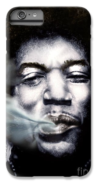 Jimi Hendrix-burning Lights-2 IPhone 6 Plus Case by Reggie Duffie