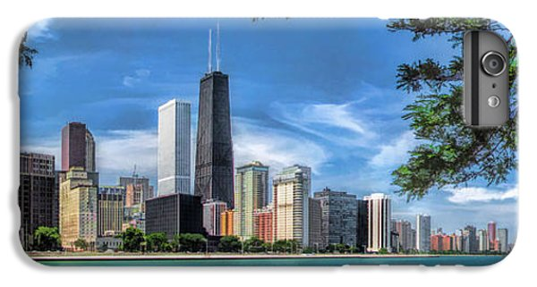John Hancock Chicago Skyline Panorama IPhone 6 Plus Case by Christopher Arndt