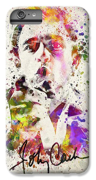 Johnny Cash  IPhone 6 Plus Case by Aged Pixel