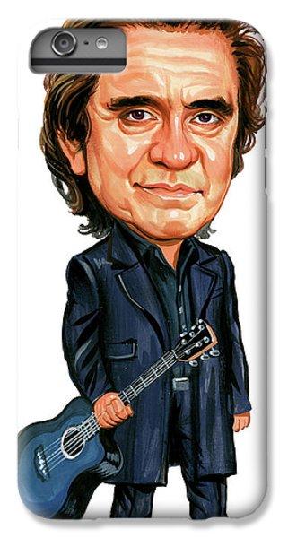Johnny Cash IPhone 6 Plus Case by Art