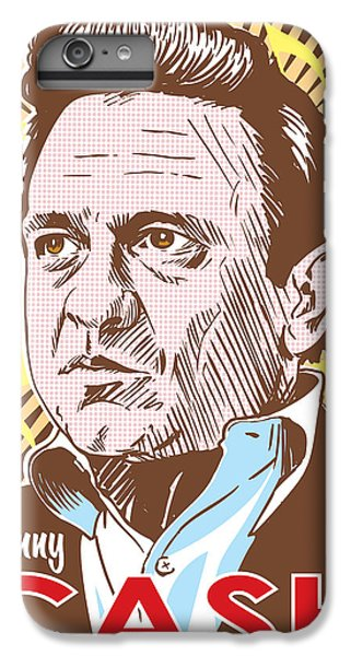 Johnny Cash Pop Art IPhone 6 Plus Case by Jim Zahniser