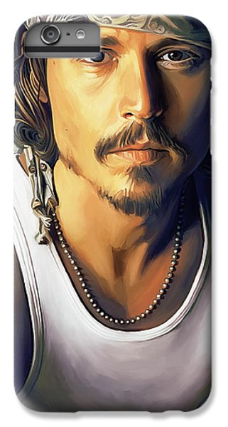 Johnny Depp Artwork IPhone 6 Plus Case by Sheraz A
