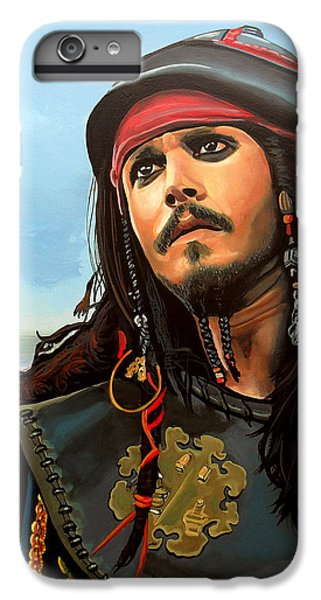 Johnny Depp As Jack Sparrow IPhone 6 Plus Case by Paul Meijering