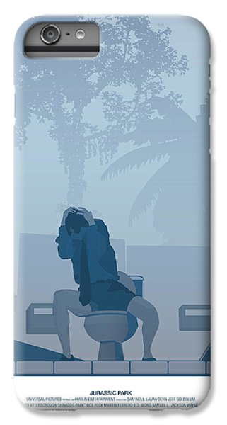 Jurassic Park Poster - Feat. Gennaro IPhone 6 Plus Case by Peter Cassidy
