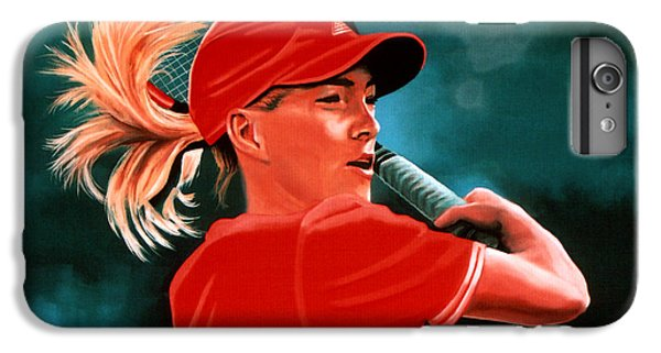 Justine Henin  IPhone 6 Plus Case by Paul Meijering