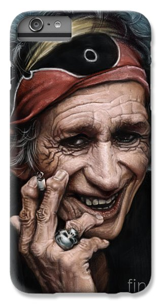 Keith Richards IPhone 6 Plus Case by Andre Koekemoer