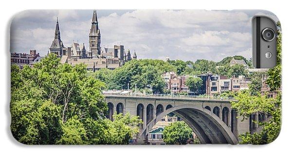 Key Bridge And Georgetown University IPhone 6 Plus Case by Bradley Clay