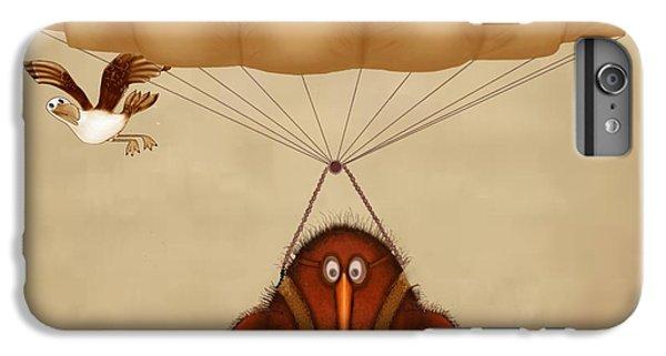 Kiwi Bird Kev Parachuting IPhone 6 Plus Case by Marlene Watson