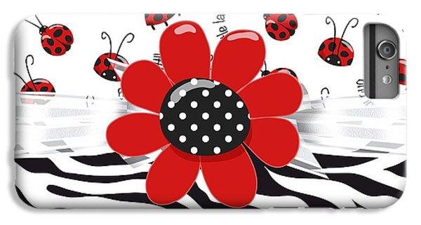 Ladybug Wild Thing IPhone 6 Plus Case by Debra  Miller