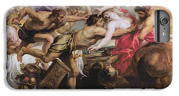 Lapiths And Centaurs Oil On Canvas IPhone 6 Plus Case by Peter Paul Rubens